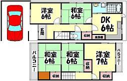 [一戸建] 大阪府高石市西取石7丁目 の賃貸【/】の間取り