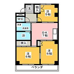 VILLA西本町[2階]の間取り