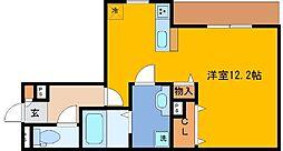 JR東海道・山陽本線 三ノ宮駅 徒歩13分の賃貸アパート 1階1Kの間取り
