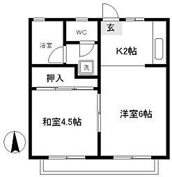 コーポ藤[3階]の間取り