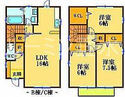 [一戸建] 兵庫県神戸市西区白水2丁目 の賃貸【兵庫県/神戸市西区】の間取り