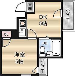 アメニティー新大阪1番館[4階]の間取り