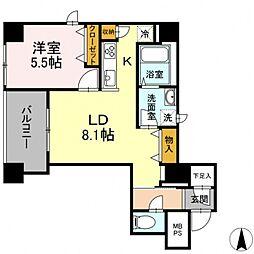 グランジット神田司町 7階1LDKの間取り