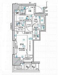 相鉄本線 西横浜駅 徒歩7分の賃貸マンション 6階1Kの間取り