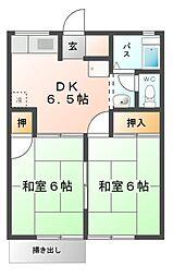 ロイヤル水谷A棟[1階]の間取り