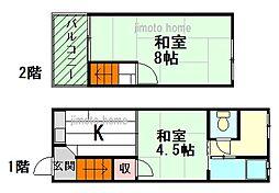 [テラスハウス] 大阪府豊中市走井1丁目 の賃貸【大阪府 / 豊中市】の間取り