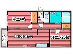シティハイムWARM[1階]の間取り