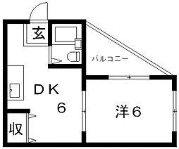 JPアパートメント藤井寺[4A号室号室]の間取り