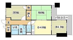 ロイヤルコーポ姫路[4階]の間取り