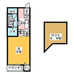 ノブレス・ルミエ[1階]の間取り