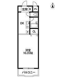 モンシャトー[3階]の間取り
