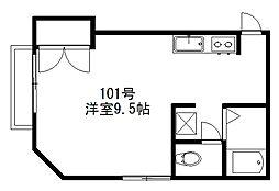 サンプレイス三宅[101号室]の間取り