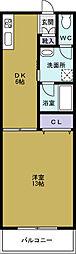 義東マンション[2階]の間取り
