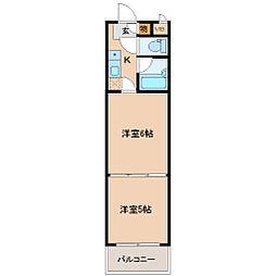 バリュー大和町[7階]の間取り
