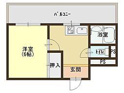 大阪府大阪市東成区中道3の賃貸マンションの間取り
