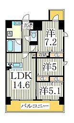 仮)おおたかの森西口マンション[8階]の間取り