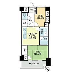 ライオンズマンション東川口AKAO[2階]の間取り