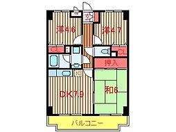 ラ・フォレ薬円台[605号室]の間取り