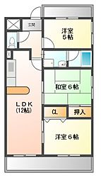 サンライズIII[4階]の間取り