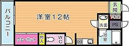リビオン萩崎[504号室]の間取り