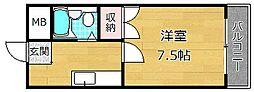 宮之阪コーポ[3階]の間取り