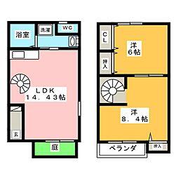 [テラスハウス] 愛知県知立市谷田町西1丁目 の賃貸【/】の間取り