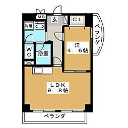 ウイングF・S[7階]の間取り