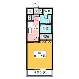 シャンピア山王浦[1階]の間取り
