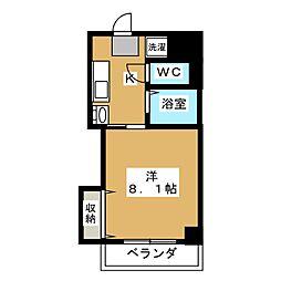 京・OHBU[3階]の間取り