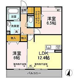 Resente和田町B[3階]の間取り