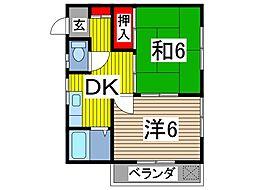 第2ハイムアズマ[2階]の間取り