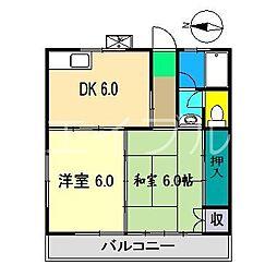 山岡マンション[1階]の間取り