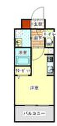 LANDIC H1916 6階1Kの間取り