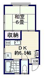 ハイツ宮坂[2階]の間取り