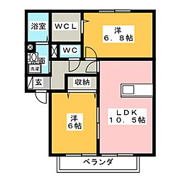 find birdie C[2階]の間取り