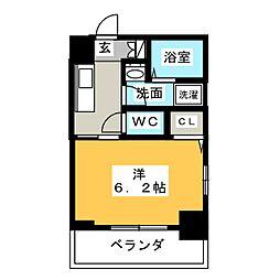 エステムコート名古屋泉プラチナムゲート 10階1Kの間取り