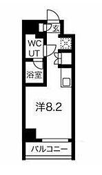 JR京浜東北・根岸線 大井町駅 徒歩8分の賃貸マンション 3階ワンルームの間取り