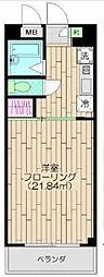 東京都目黒区中町1丁目の賃貸マンションの間取り