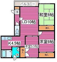 北海道札幌市東区北四十二条東14丁目の賃貸マンションの間取り