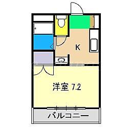 定林寺コーポII[1階]の間取り