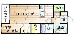 ロイヤルハウス自由ヶ丘[1階]の間取り