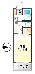 グレース栄[3階]の間取り