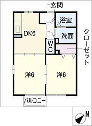 サニーコートB棟[2階]の間取り