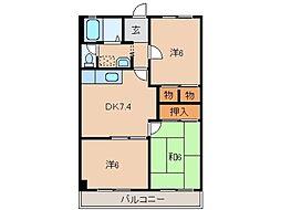 メゾンワイチ[2階]の間取り