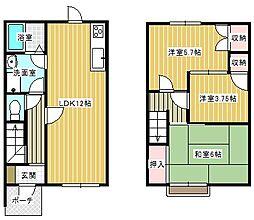 [テラスハウス] 神奈川県横須賀市浦上台1丁目 の賃貸【/】の間取り