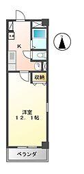 愛知県名古屋市南区三吉町1丁目の賃貸マンションの間取り