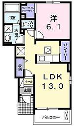 キングダムII[0103号室]の間取り