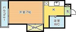司城ビル[502号室]の間取り