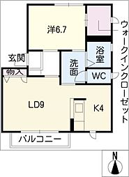 コンフォート吉新B棟[2階]の間取り