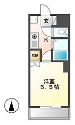 愛知県名古屋市昭和区滝川町の賃貸マンションの間取り